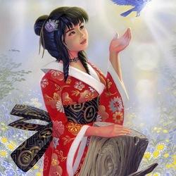 Пазл онлайн: The Bluebird Of Happiness / Лазурная птица счастья