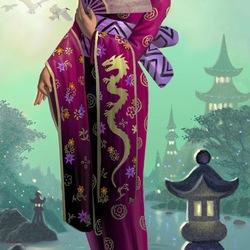 Пазл онлайн: Blonde Geisha / Светловолосая гейша