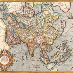 Пазл онлайн: Старинная карта Азии