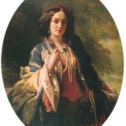 Пазл онлайн: Портрет графини Катаржины Потоцкой, урожденной Браницкой
