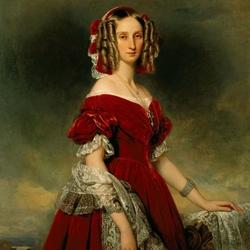 Пазл онлайн: Портрет Луизы Орлеанской, королевы Бельгии