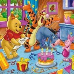 Пазл онлайн: День рожденья Пятачка