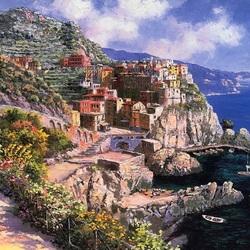 Пазл онлайн: Итальянский городок Вернацца