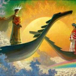 Пазл онлайн: У небесного причала