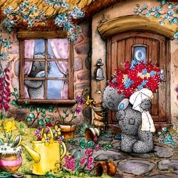 Пазл онлайн: Мишки Тедди