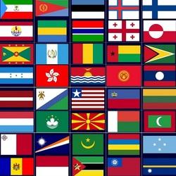 Пазл онлайн: Флаги мира