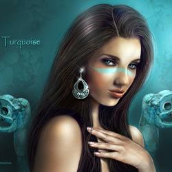 Пазл онлайн: Turquoise / Бирюза