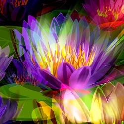 Пазл онлайн: Фрактальные лилии