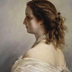 Пазл онлайн: Портрет императрицы Евгении