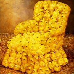 Пазл онлайн: Желтенькое кресло