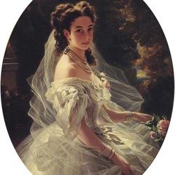 Пазл онлайн: Портрет княгини Паулины Клементины фон Меттерних, урожденной Шандор