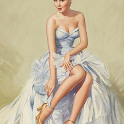 Пазл онлайн: Красотка в бальном платье
