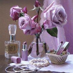 Пазл онлайн: Сиреневые розы