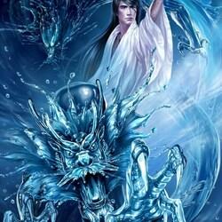 Пазл онлайн: Водяной дракон