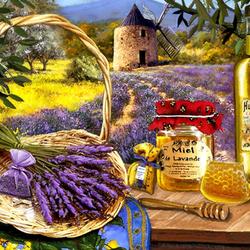 Пазл онлайн: Лавандовый мед