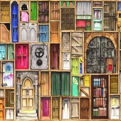 Пазл онлайн: Двери