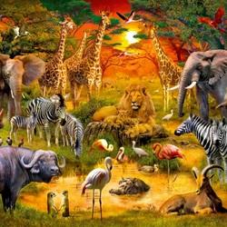 Пазл онлайн: Животные