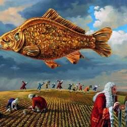 Пазл онлайн: Gold fish / Золотая рыбка