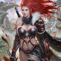 Пазл онлайн: Одинокая женщина-воин