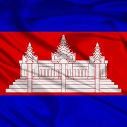 Пазл онлайн: Флаг Королевства Камбоджа