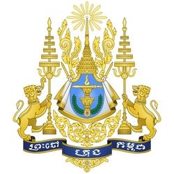 Пазл онлайн: Герб Королевства Камбоджа