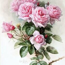 Пазл онлайн: Розы и пчелы