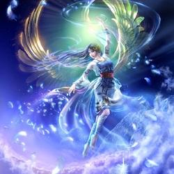 Пазл онлайн: Небесный ангел
