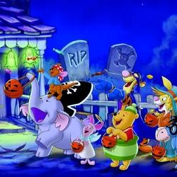 Пазл онлайн: Винни и Хэллоуин