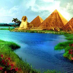 Пазл онлайн: Мир фантазии - Египетские пирамиды
