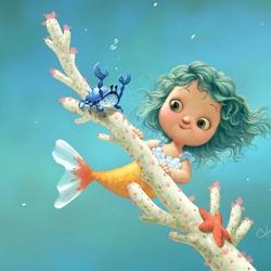 Пазл онлайн: Маленькая русалочка
