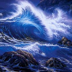 Пазл онлайн: Пенные волны