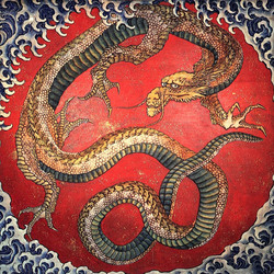 Пазл онлайн: Деревянный дракон