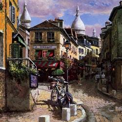 Пазл онлайн: Моннмартр, Франция