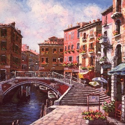 Пазл онлайн: Мост в Венеции