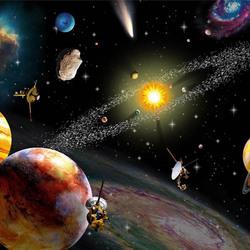 Пазл онлайн: В космосе