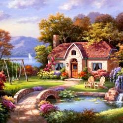 Пазл онлайн: Маленький дом