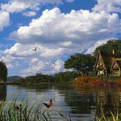 Пазл онлайн: Bucolic Dwelling/ Буколическое жилище