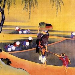 Пазл онлайн: Японская гравюра
