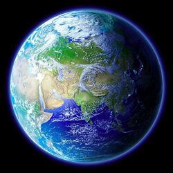 Пазл онлайн: Blue Earth / Голубая Земля