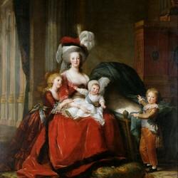 Пазл онлайн: Мария-Антуанетта Лоррейн-Хабсбург,королева Франции и её дети