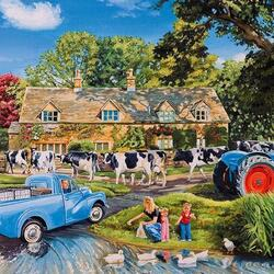 Пазл онлайн: Молочная ферма
