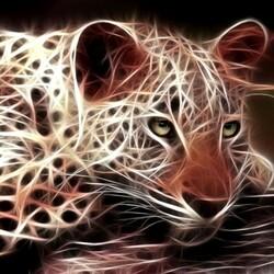 Пазл онлайн: Фрактальный леопард