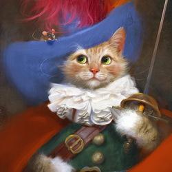 Пазл онлайн: Кот-мушкетёр