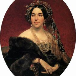 Пазл онлайн: Портрет княгини З.А.Волконской