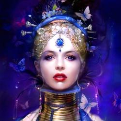 Пазл онлайн: Blue Phoenix / Cиний Феникс