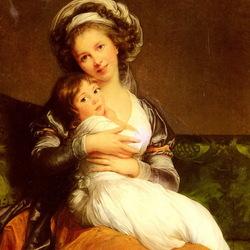 Пазл онлайн: Автопортрет с дочерью