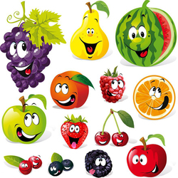 Пазл онлайн: Весёлые фрукты