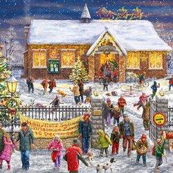 Пазл онлайн: Рождественская школьная ярмарка