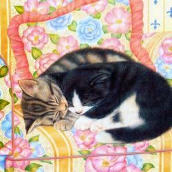 Пазл онлайн: Сладкий сон вдвоем