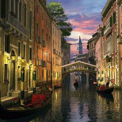 Пазл онлайн: Венеция в сумерках